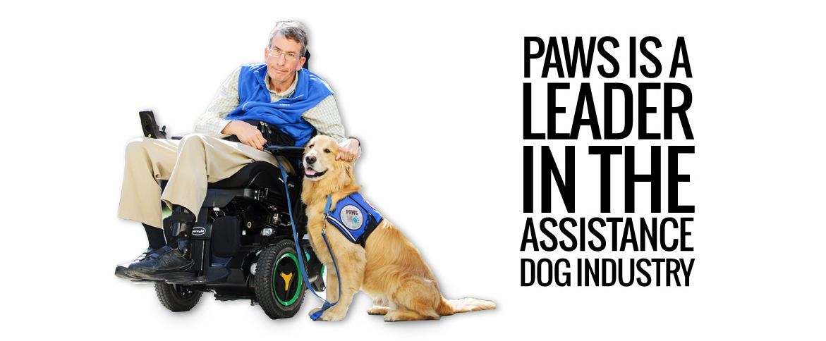 Paws is a leader in the assistance dog industry