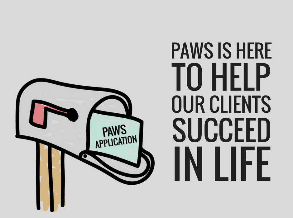 Paws is here to help our clients succeed in life (Paws application)