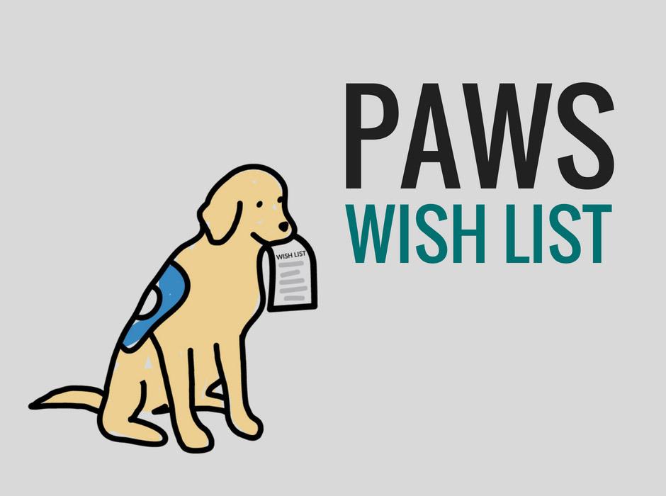 Paws wish list